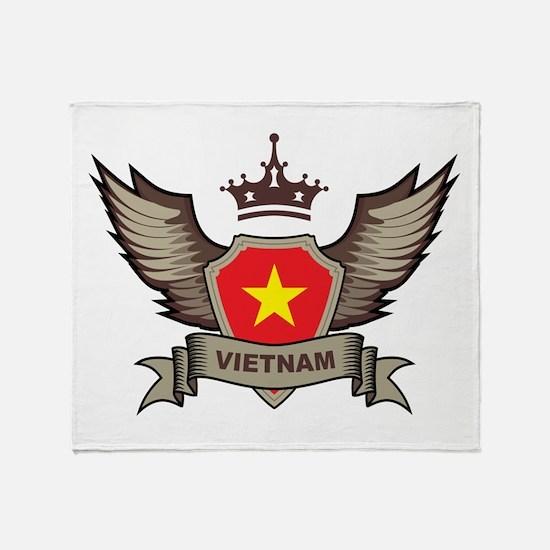 Vietnam Emblem Throw Blanket