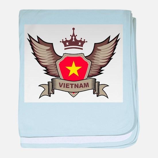 Vietnam Emblem baby blanket