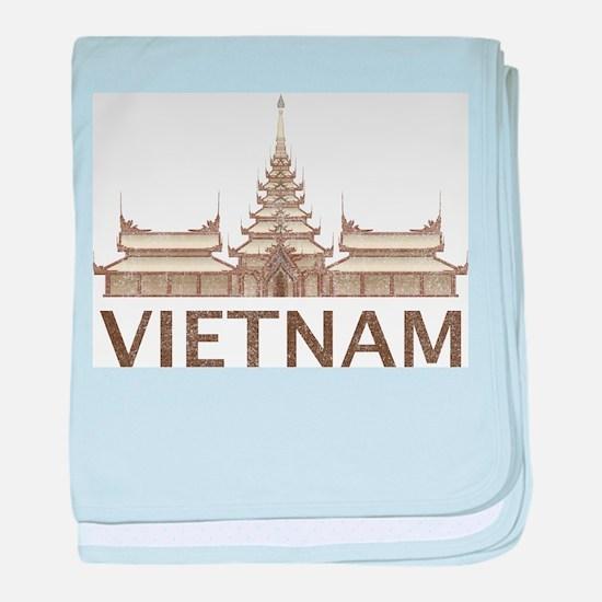 Vintage Vietnam Temple baby blanket