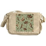 Sea otter Canvas Messenger Bags