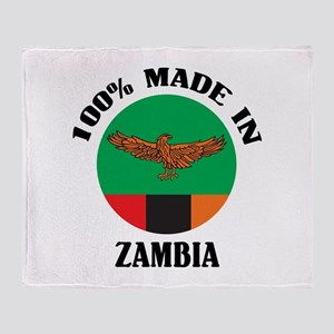 Made In Zambia Throw Blanket