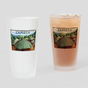 Vintage Zambia Art Pint Glass