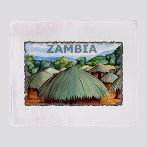 Vintage Zambia Art Throw Blanket