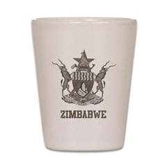Vintage Zimbabwe Shot Glass