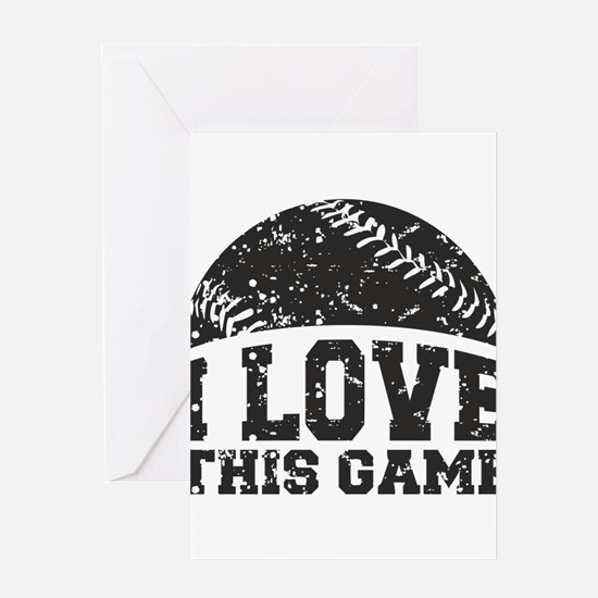 I Love This Game Greeting Card