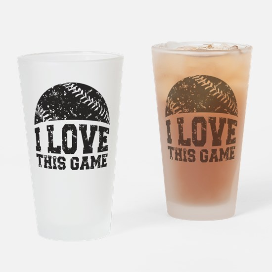 I Love This Game Pint Glass
