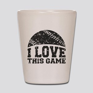 I Love This Game Shot Glass