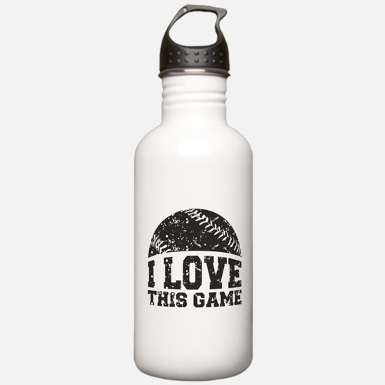 I Love This Game Water Bottle