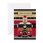 Fireman and Fire Engine Greeting Cards (Pk of 20)