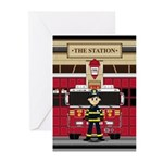Fireman and Fire Engine Greeting Cards (Pk of 10)
