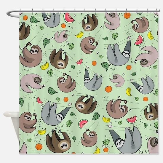 Cute Sloth Shower Curtain