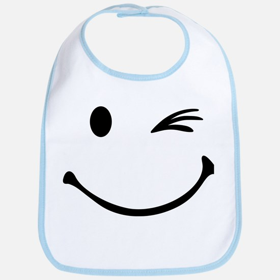Smiley wink Bib