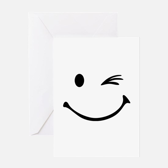 Smiley wink Greeting Card