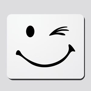 Smiley wink Mousepad