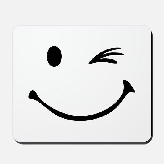 Smiley wink Mousepad