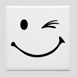 Smiley wink Tile Coaster