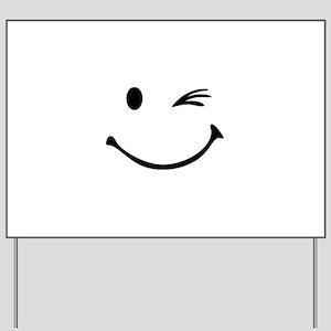 Smiley wink Yard Sign