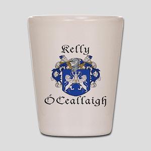 Kelly In Irish & English Shot Glass