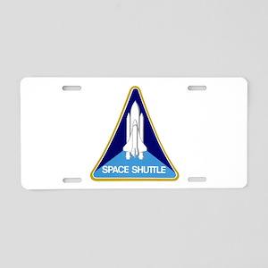 Original Space Shuttle Insignia Aluminum License P