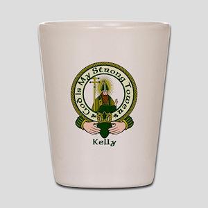 Kelly Clan Motto Shot Glass