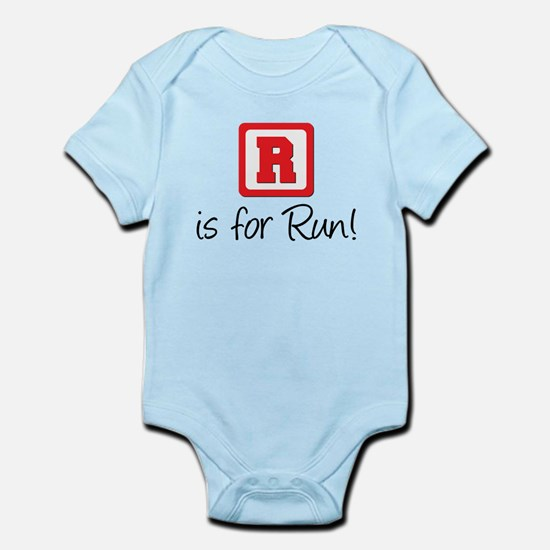 R Is For Run Infant Bodysuit