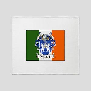 Kelly Arms Irish Flag Throw Blanket