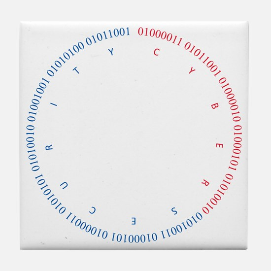 Cyber Security w/ Text RB Tile Coaster