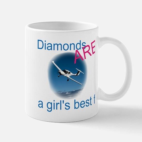 Diamonds ARE a girl's best fr Mug