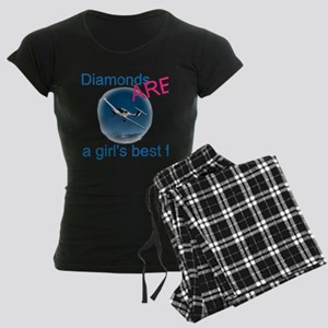 Diamonds ARE a girl's best fr Women's Dark Pajamas