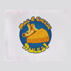 Mac & Cheese Rules Throw Blanket