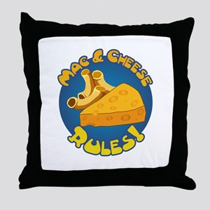 Mac & Cheese Rules Throw Pillow