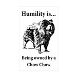 Owned by a Chow Chow Sticker (Rectangle 50 pk)