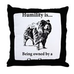 Owned by a Chow Chow Throw Pillow