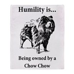 Owned by a Chow Chow Throw Blanket