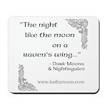 Raven Moon Mousepad