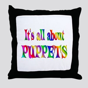 About Puppets Throw Pillow