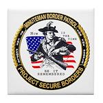Politics Minuteman Border Pat Tile Coaster