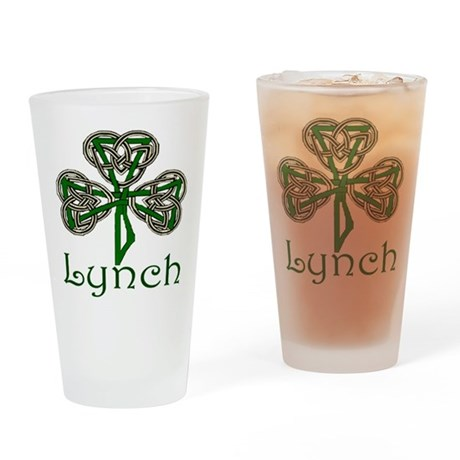 Lynch Shamrock Pint Glass