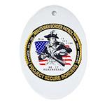 Politics Minuteman Border Pat Oval Ornament