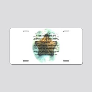 Starfish Wisdom Aluminum License Plate