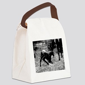 AFTM Foal getting up BW Canvas Lunch Bag