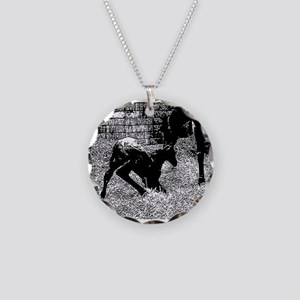 AFTM Foal getting up BW Necklace