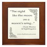 Raven Moon Framed Tile