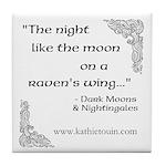 Raven Moon Tile Coaster