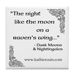 Raven Moon Tile Coaster