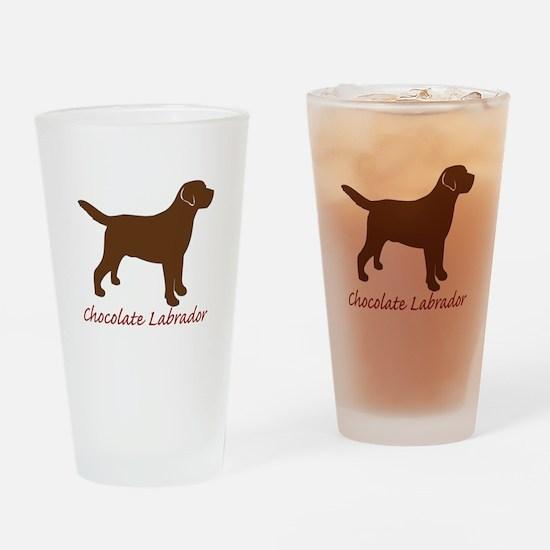 Chocolate Labrador Pint Glass