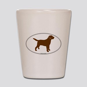 Chocolate Lab Outline Shot Glass