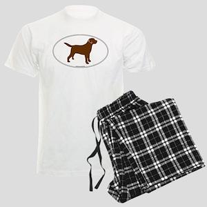 Chocolate Lab Outline Men's Light Pajamas