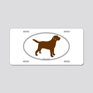 Chocolate Lab Outline Aluminum License Plate