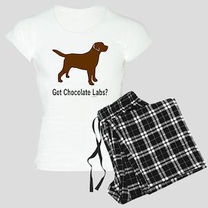 Got Chocolate Labs II Women's Light Pajamas